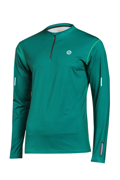Trainingsshirt langarm Zip Mirage Green - LBMZ-11X5