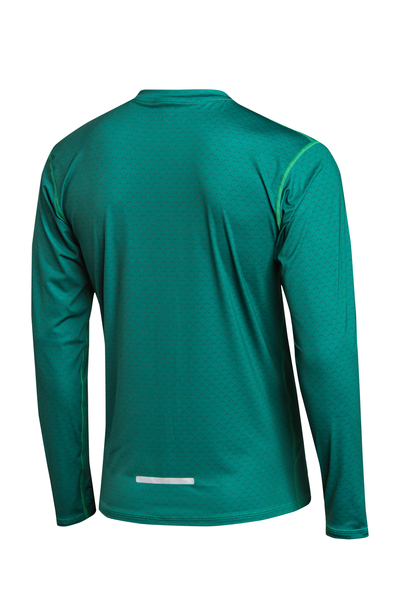 Trainingsshirt langarm Zip Green Mirage - LBMZ-11X5