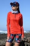 Training sweatshirt Zip Mirage Red - LBKZ-11X4