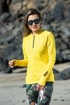Training sweatshirt Zip Mirage Yellow - LBKZ-11X1