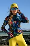 Training sweatshirt Zip Mosaic Flora - LBKZ-11M4