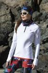 Training sweatshirt Zip White Mirage - LBKZ-11X0