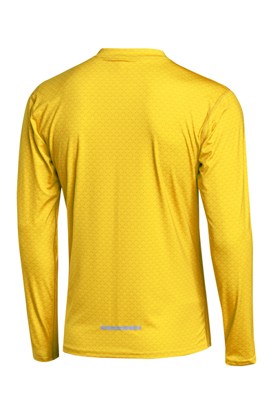 Training sweatshirt ZIP Yellow Mirage - LBMZ-11X1