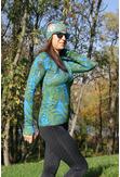 Training sweatshirt with a hood Green Fern - LBK-10P1 - packshot