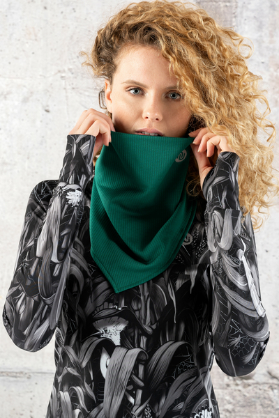 Thermoactive Triangular Scarf Green - AT-50F