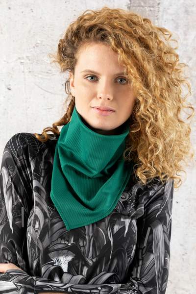 Thermoactive Triangular Small Scarf Green - ATW-50F