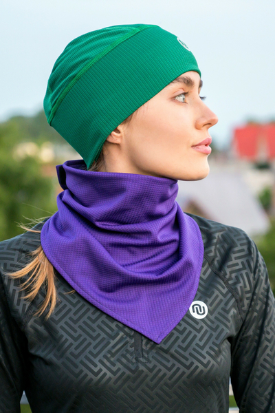 Thermoactive Triangular Scarf Purple - ATK-60F