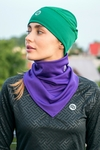 Thermoactive Triangular Scarf Purple - ATW-60F