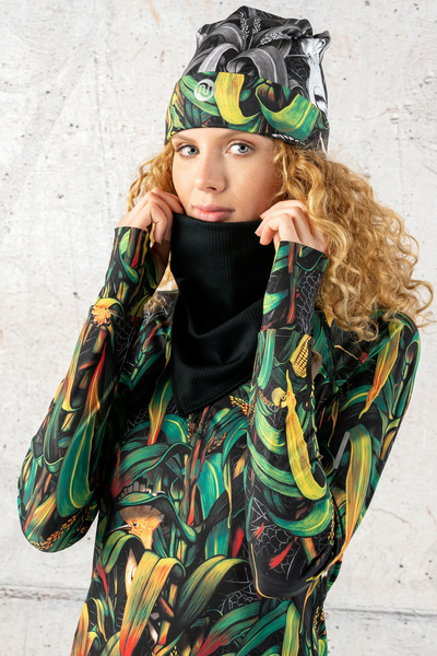 Thermoactive Triangular Scarf Total Black - AT-90