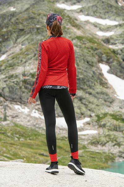 Bunte Leggings Black-Galaxy Red - OSLK-90-9G4