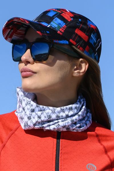 Summer Breathable Neck Warmer Galaxy 3D White - ABL-9GT00
