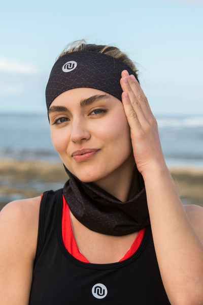 Summer Breathable Neck Warmer Black Mirage - ABL-11X9