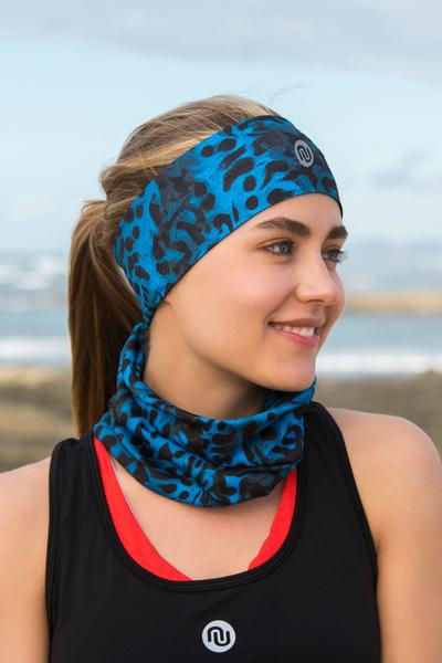 Summer Breathable Neck Warmer Blue Panther - ABL-9K3