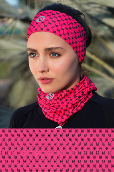 Summer Breathable Neck Warmer Galaxy Pink - ABL-9G2
