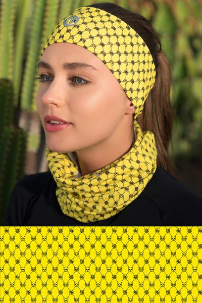 Summer Breathable Neck Warmer Galaxy Yellow - ABL-9G1