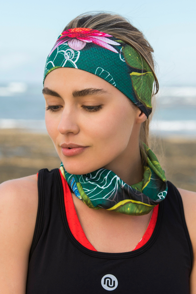 Summer Breathable Neck Warmer Lily Pond - ABL-11Z1