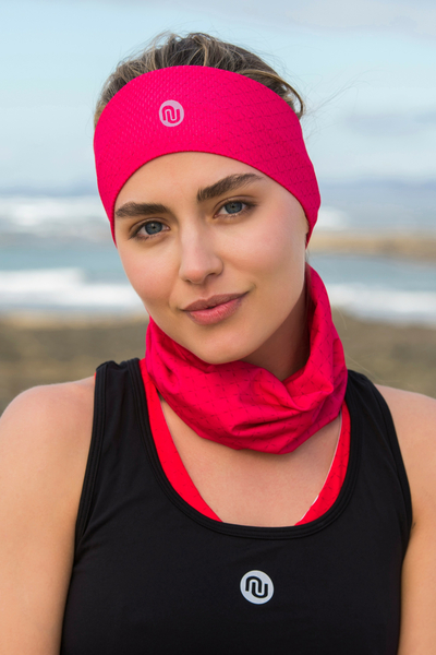 Summer Breathable Neck Warmer Pink Mirage - ABL-11X2