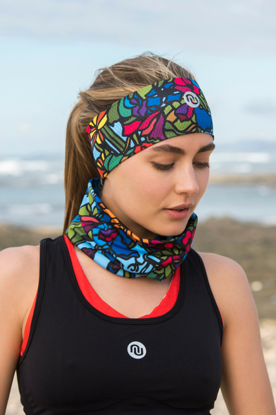 Summer Breathable Neck Warmer Mosaic Flora - ABL-11M4