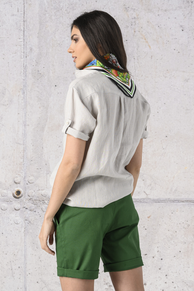 Linen Shirt Melia Grey - ILK-80