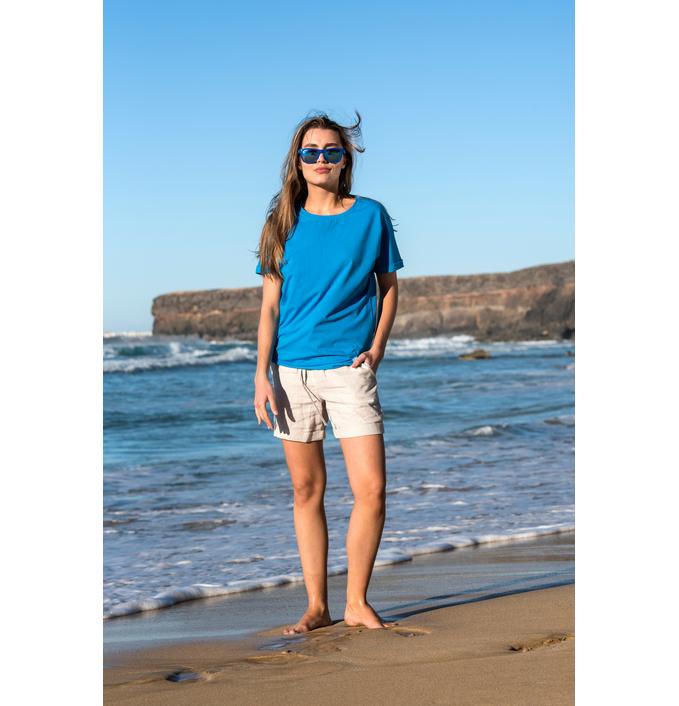 Ecocotton Loose Fit Blue T-shirt - ITB-50 - packshot