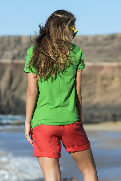 Ecocotton Loose Green T-shirt - ITB-40