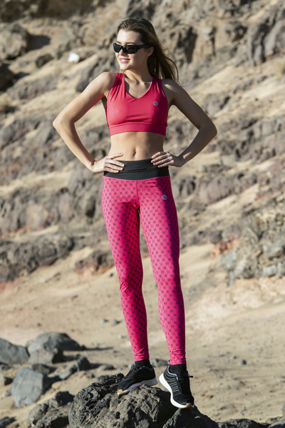 Leggings mit Multifunktions-Bund 4K Ultra HD Galaxy Pink - OSLP-9G2D