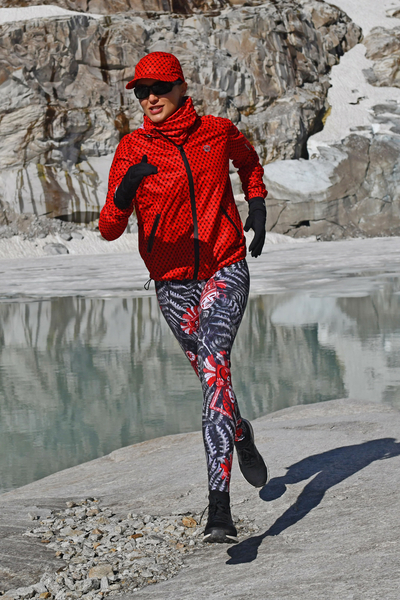 Running Leggings with a belt 4K UltraHD Red Mask - OSLP-10VM3