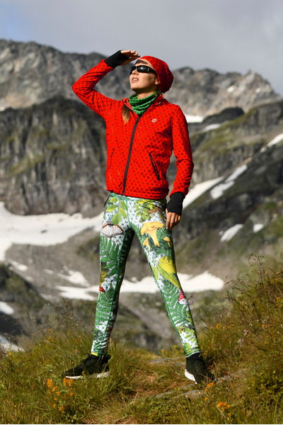 Leggings with a belt 4K UltraHD White Forest - OSLP-10L1