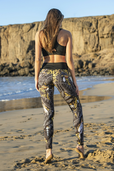 Leggings mit Multifunktions-Bund 4K Ultra HD Selva Yellow - OSLP-11T2
