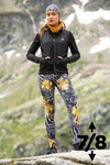 Running Leggings 7/8 with a belt 4K UltraHD Gold Mask - OSLP7-10VM4