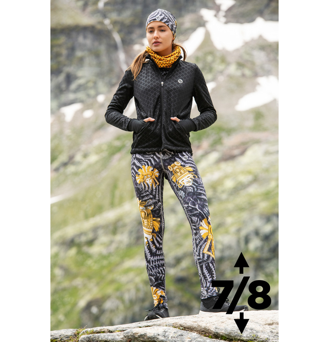 Running Leggings 7/8 with a belt 4K UltraHD Gold Mask - OSLP7-10VM4 - packshot