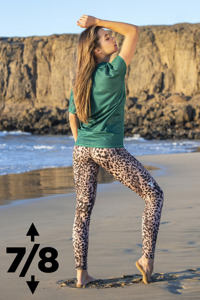 Running Leggings 7/8 with a belt 4K UltraHD Sand Panther - OSLP7-11K8