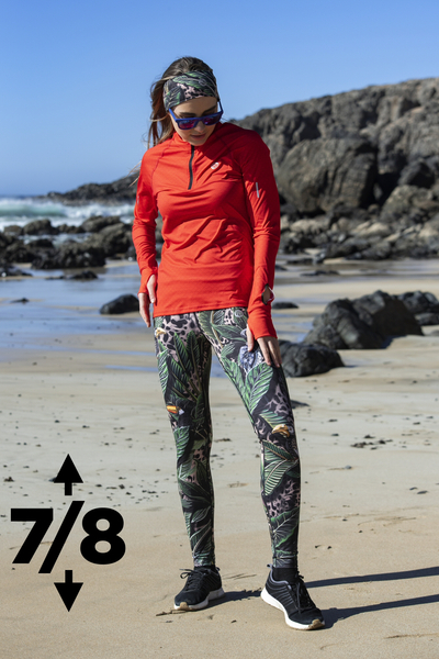 Running Leggings 7/8 with a belt 4K Ultra HD Selva Sand - OSLP7-11T1