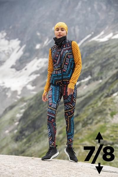 Warm leggings 7/8 Aztec 3D - OLOV7-10A2