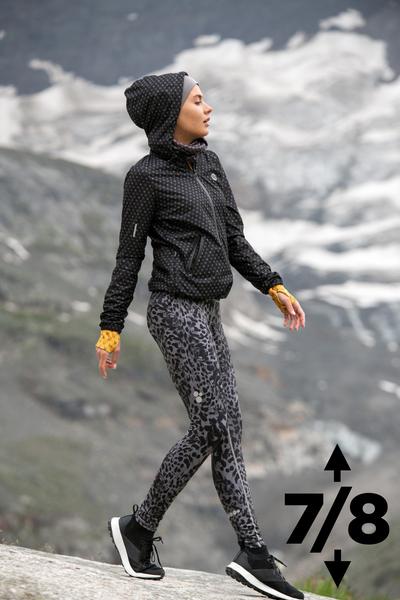 Warm leggings 7/8 Grey Panther II - OLOV7-10K6