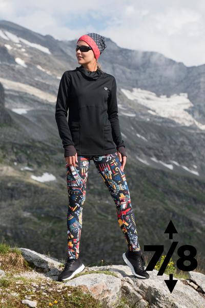 Warm leggings 7/8 Mosaic Metzli - OLOV7-10M4