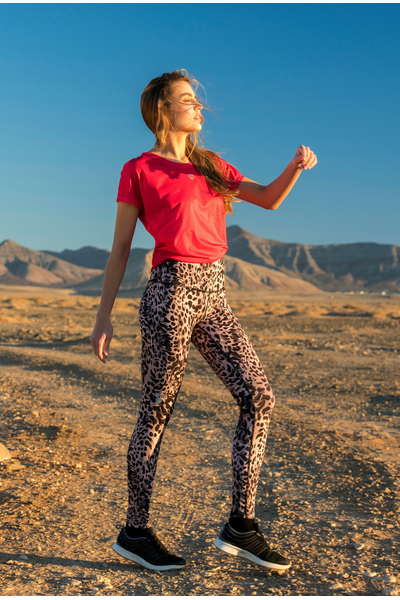 Running Leggings Sand Panther - OSLZ-11K8