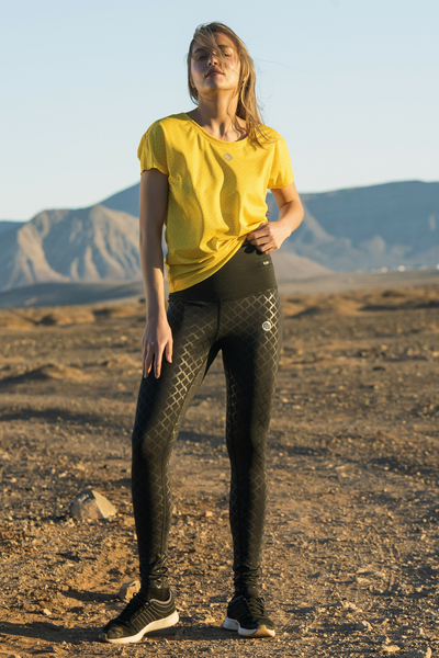 Running Leggings Shiny Black - OSLZ-90L