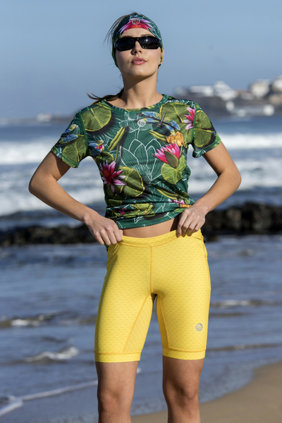Short Leggings HD 4K Mirage Yellow - OSKK-11X1