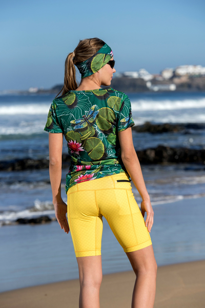 Short Leggings 4K Ultra HD Yellow Mirage - OSKK-11X1
