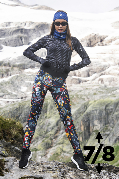Running Leggings with a belt Mosaic Metzli - OSLP7-10M4
