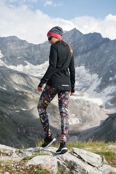 Warm leggings Mosaic Metzli - OLOV-10M4