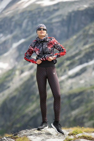Premium Running Leggings with a belt 4K UltraHD Colour Mask - OSLP-10VM1