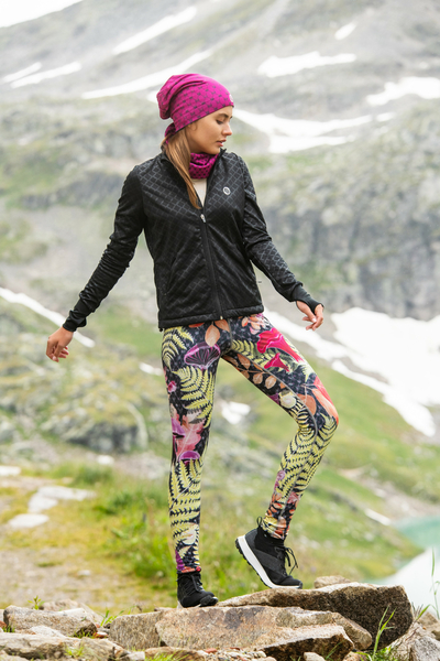 Premium Running Leggings with a belt 4K UltraHD Galaxy Green - OSLP-9G15D