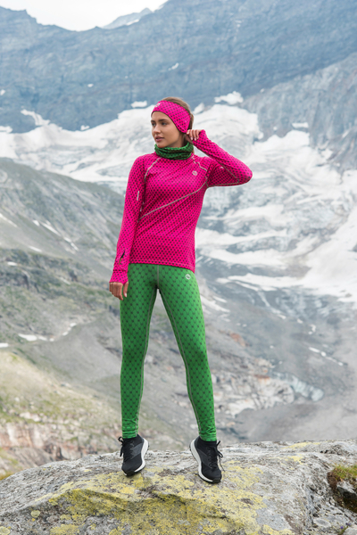 Running Leggings with a belt 4K UltraHD Galaxy Green - 9G15D