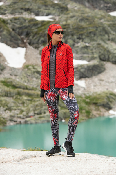 Leggings mit Multifunktions-Bund 4K UltraHD Red Mask - OSLP-10VM3