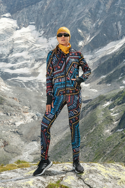Running Leggings with a belt Aztec 3D - OSLP-10A2