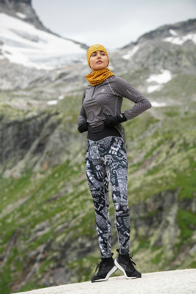 Running Leggings with a belt - OSLP-10M3