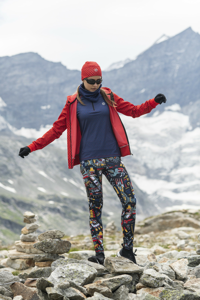 Running Leggings with a belt Mosaic Metzli - OSLP-10M4