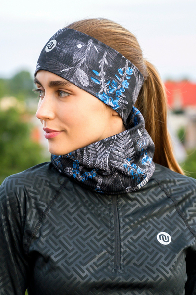Headband Thermoactive Pine Blue - AON-12L3